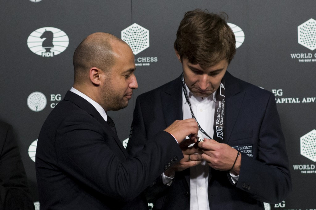 Vladimir Putin has tipped Russian chess player Sergey Karjakin for future success after he suffered an agonising defeat in an epic encounter with Norway's Magnus Carlsen in the final of the World Championships ©Getty Images