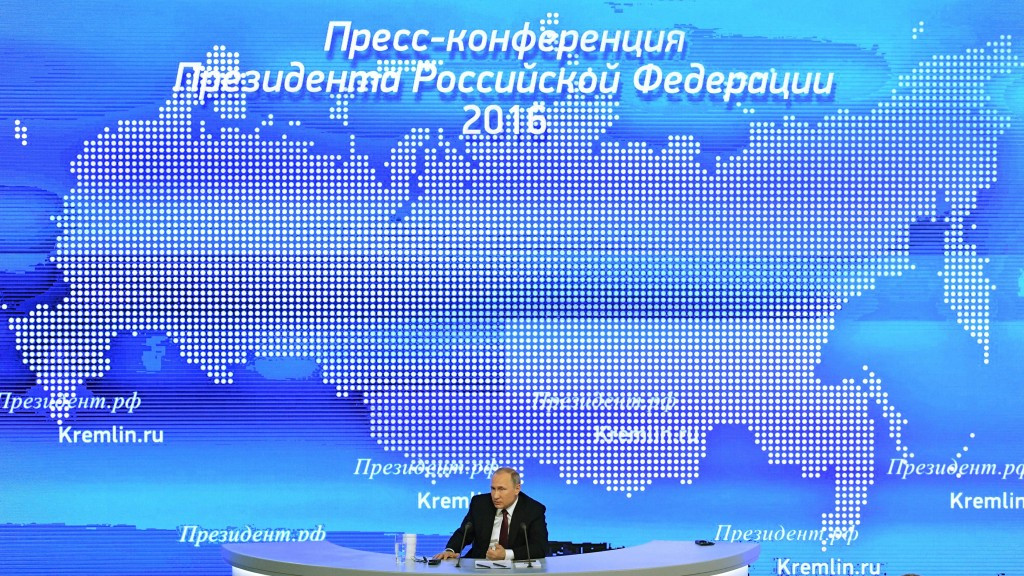 Vladimir Putin had denied any sort of culpability or state sponsored programme in his annual press conference last week ©Getty Images