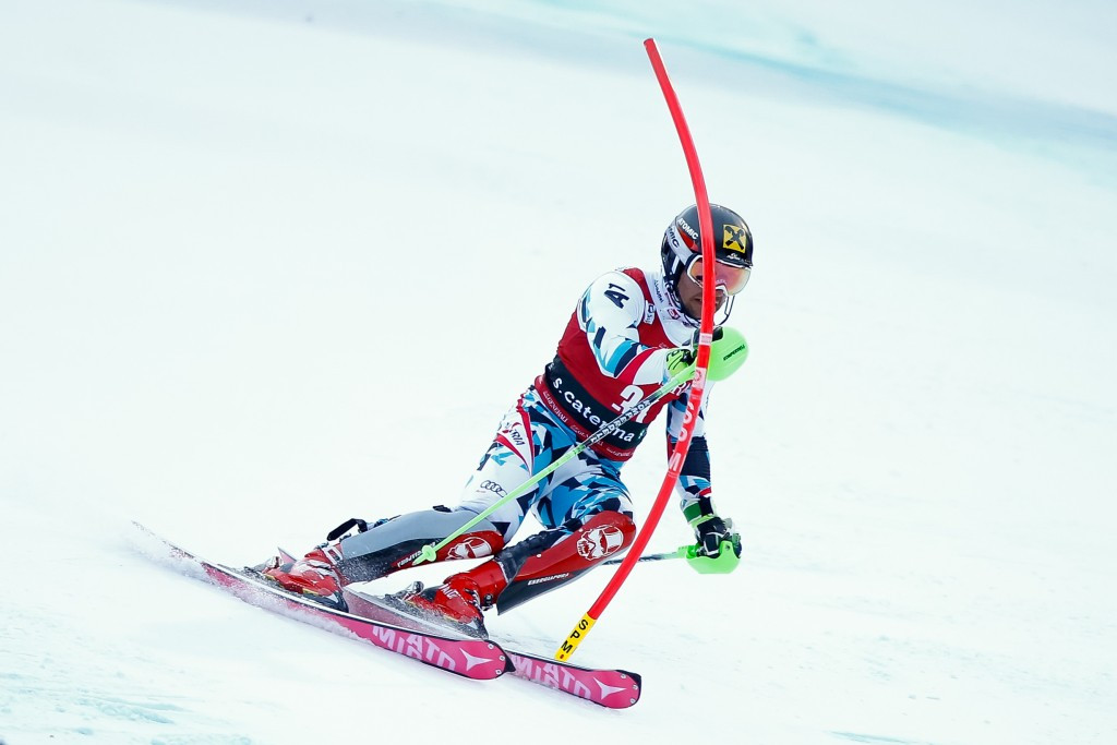 Overall World Cup leader Marcel Hirscher of Austria finished in the runners-up spot ©Getty Images