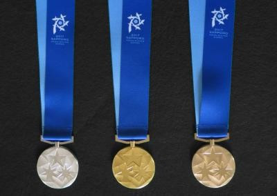 Sapporo 2017 unveil official medals of the Games