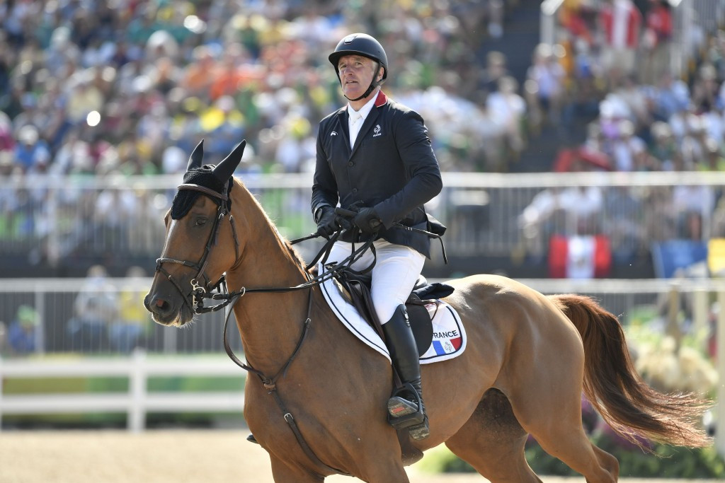 French Olympic champion wins 12-horse jump-off at FEI World Cup in Mechelen