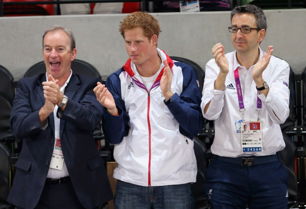 BPA chief executive Tim Hollingsworth (right), pictured here with British Royal Prince Harry (centre), has received an OBE ©Getty Images