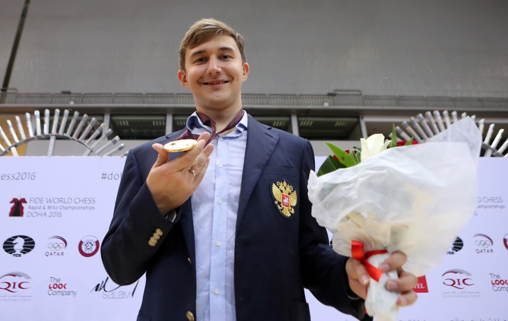 Karjakin avenges World Chess Championship final defeat to Carlsen with victory at World Blitz Championships