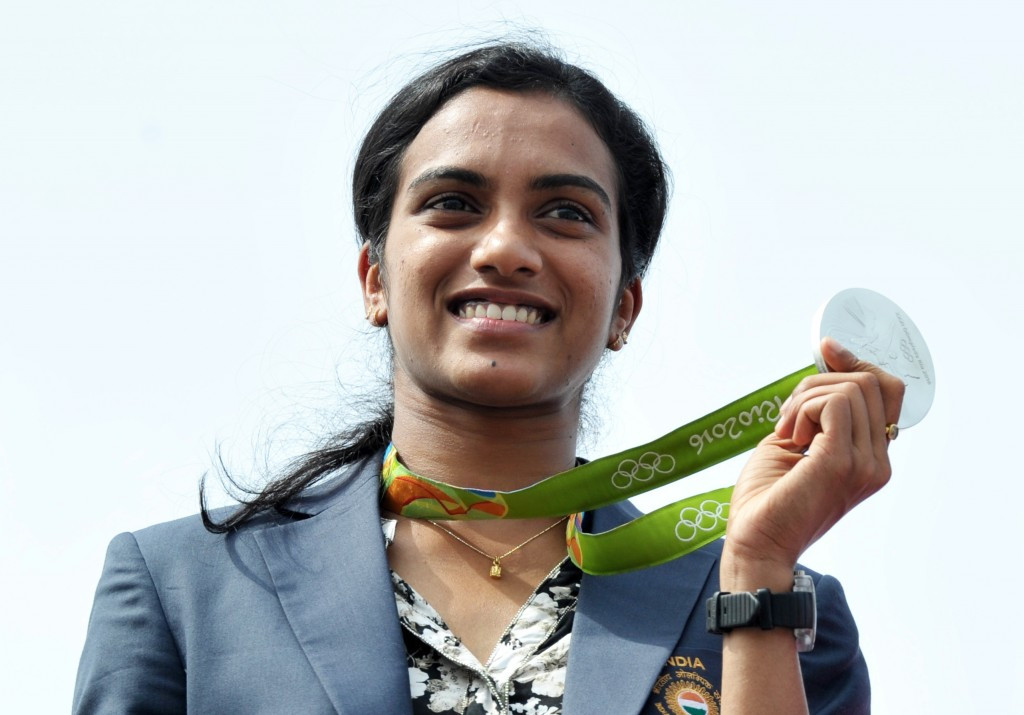 PV Sindhu won the silver medal at the Rio 2016 Olympics ©Getty Images