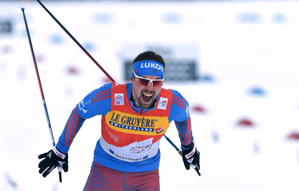 Sergey Ustiugov of Russia prevailed again to maintain his advantage at the summit of the men's standings ©Getty Images