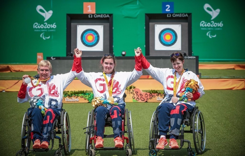 Great Britain's domination in the women's individual compound W1 was voted as one of World Archery's best moments of the Rio 2016 Paralympic Games ©World Archery