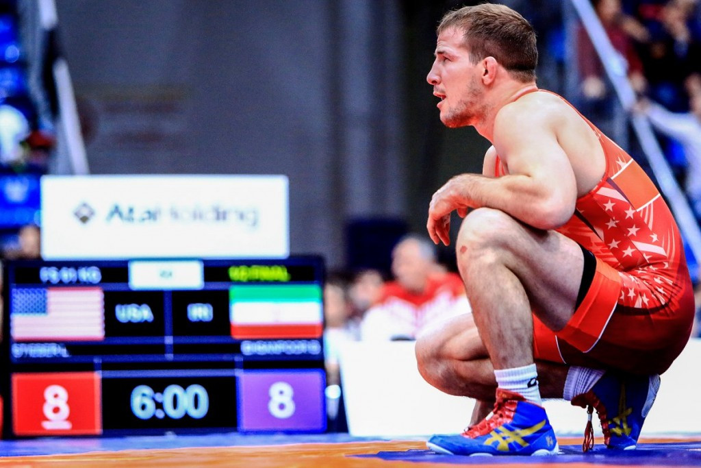 Logan Stieber has been rewarded for his gold medal at last month's World Championships ©UWW