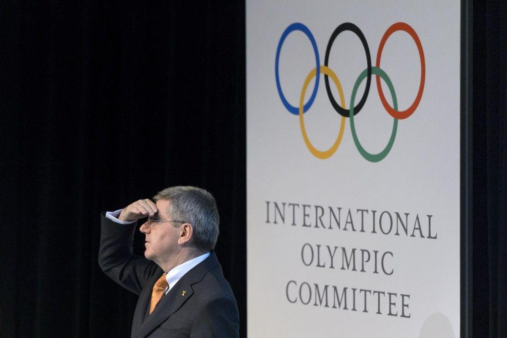 IOC President Thomas Bach chairs the 2022 Candidate City Briefing in the Olympic Museum in June 2015 ©Getty Images