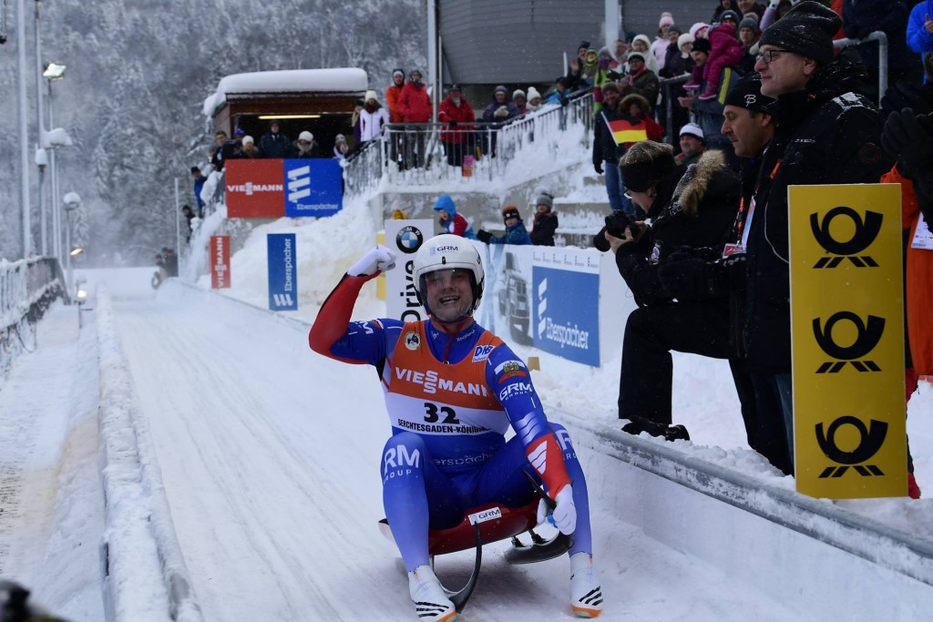 Russia's Semen Pavlichenko claimed his second FIL European Championship title after triumphing at the World Cup leg in Königssee in Germany ©FIL/Facebook