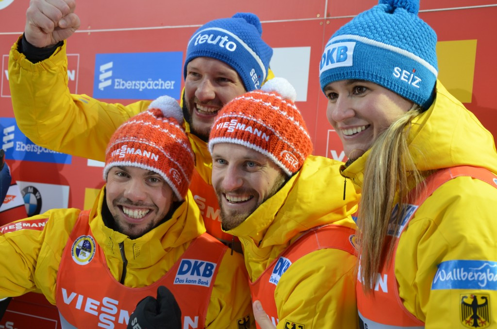 Germany successfully defended their European team relay title ©FIL