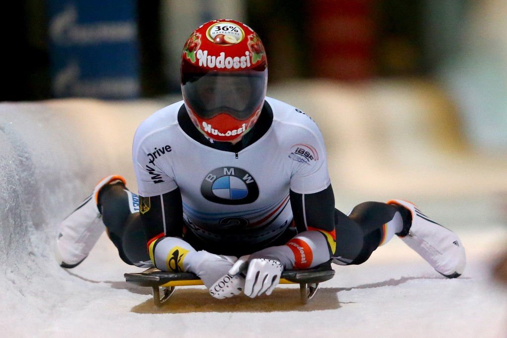 Christopher Grotheer earned a maiden World Cup victory in Altenberg ©Getty Images