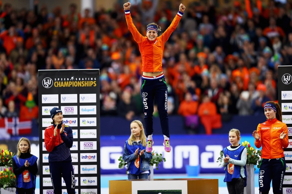 Wüst and Verbij win on second day of European Speed Skating Championships