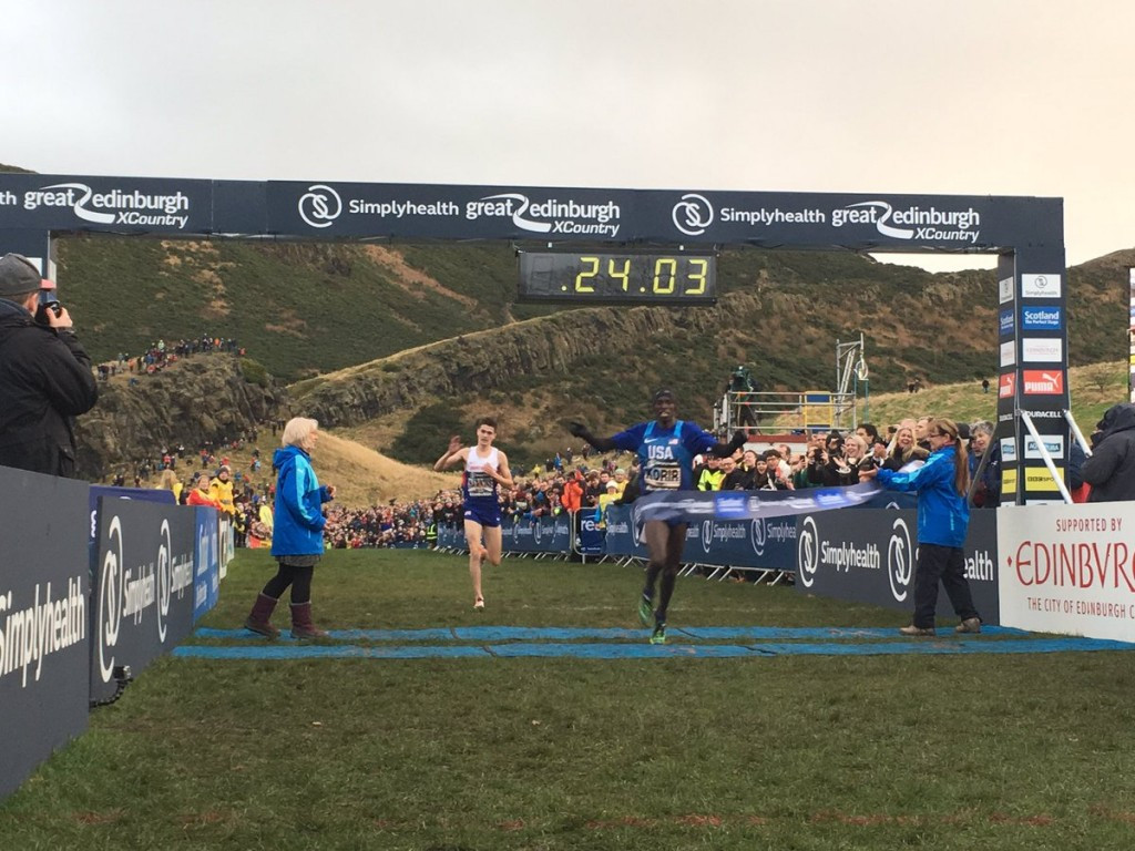 Korir outsprints Hawkins as Farah comes seventh at Great Edinburgh Cross Country