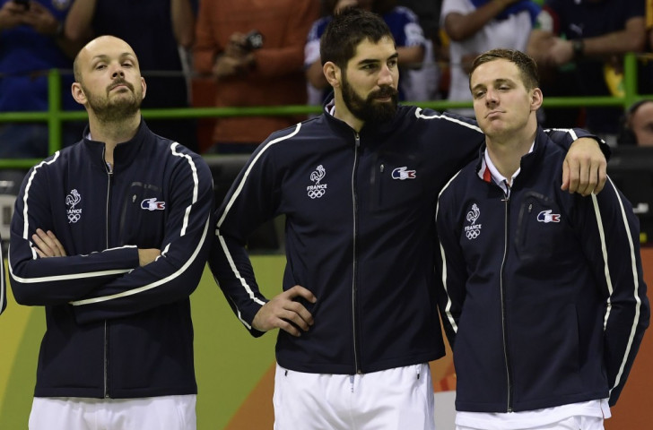 France's star performer Nikola Karabatic reflects with his colleagues after defeat by Denmark in the Rio 2016 final. Karabatic, and France, continue to have concerns over rule changes as they prepare to defend their world title on home soil this week ©Getty Images