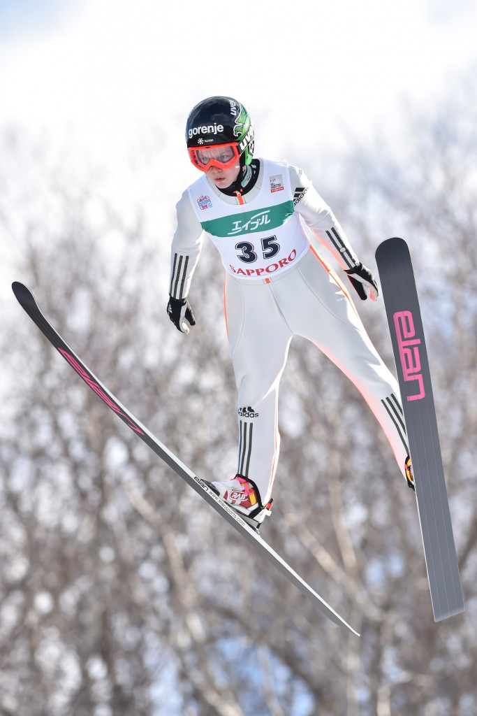 Ema Klinec jumped to her first World Cup podium of the season ©Getty Image