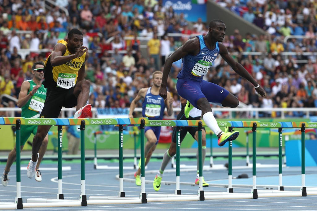 America's Kerron Clement was competing in his third Olympic Games at Rio 2016 ©Getty Images