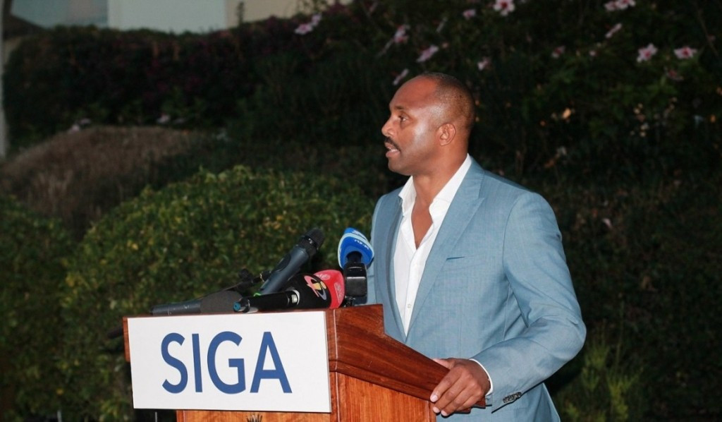 IMMAF President Kerrith Brown speaks at the Sport Integrity Global Alliance 2016 General Meeting ©IMMAF