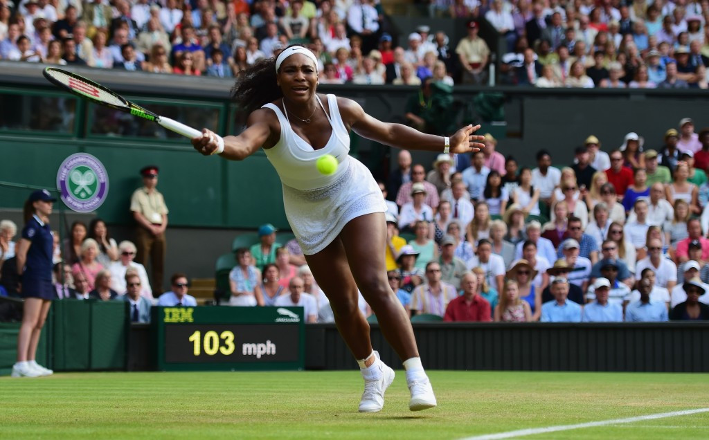 Williams battles through Watson test in Wimbledon third round