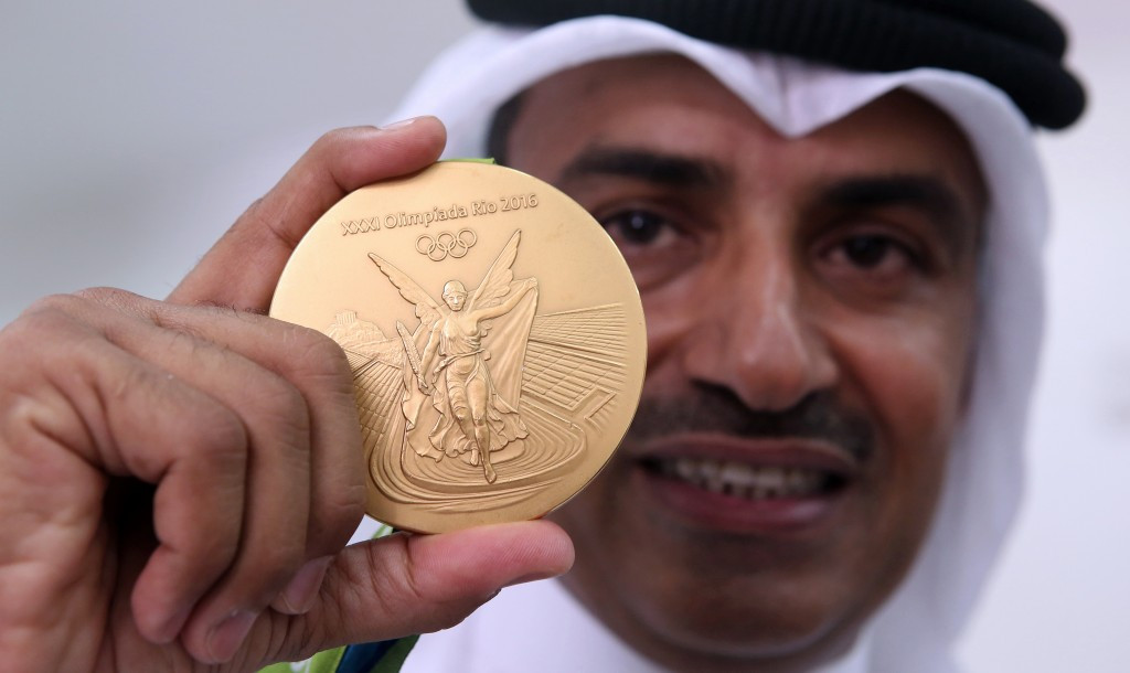 Athletes from Kuwait, including shooting gold medallist Fehaid Al-Deehani, were only able to compete at Rio 2016 independently under the Olympic Flag due to the ban ©Getty Images