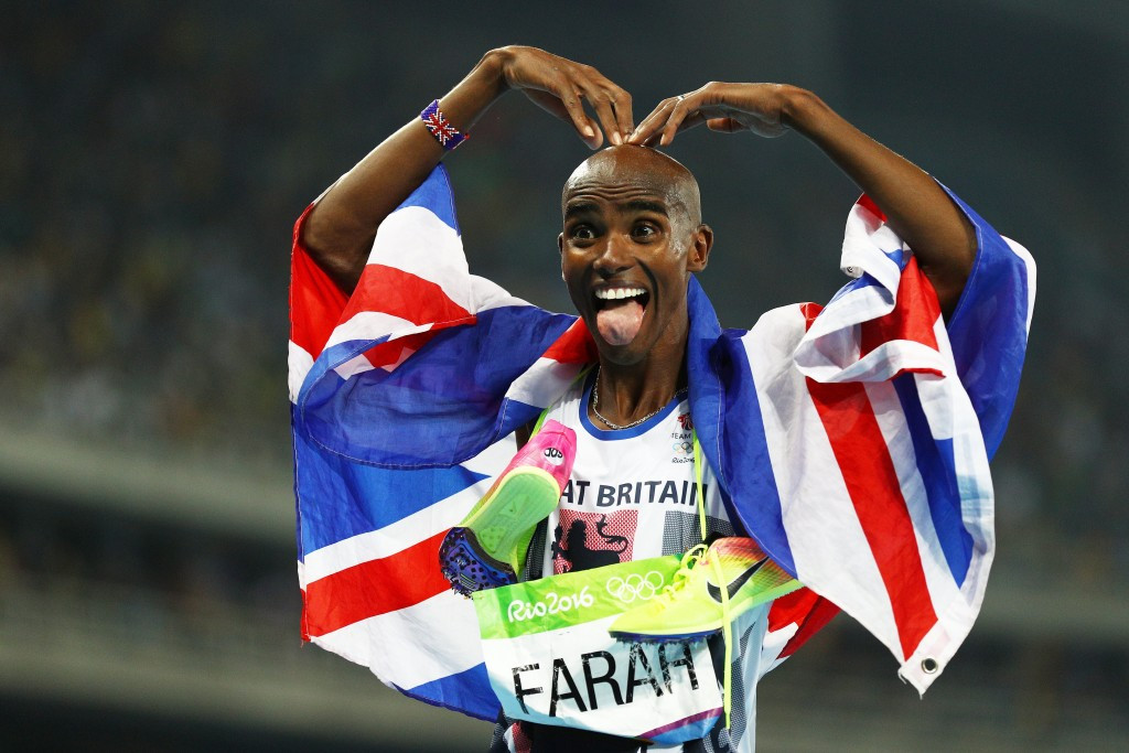 Four-time Olympic gold medallist Sir Mo Farah is one of many Black and Minority Ethnic role models who will be celebrated in a special UK Athletics exhibition in London in October ©Getty Images