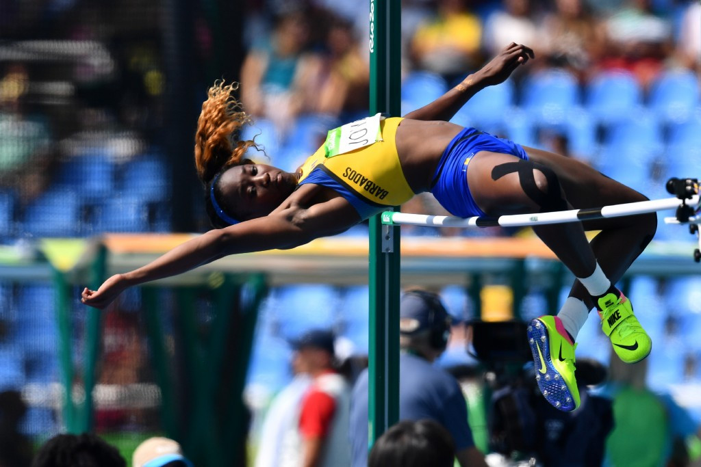 Akela Jones competed in the high jump and heptathlon at the Rio 2016 Olympic Games ©Getty Images