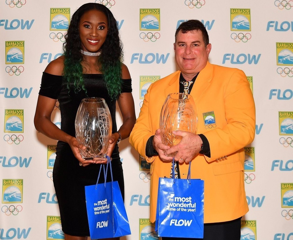 Akela Jones (left) and Michael Maskell (right) received awards on the night ©BOA