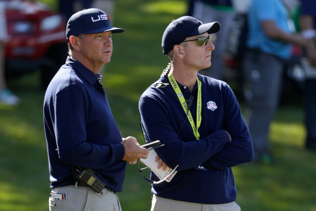 Jim Furyk was one of the vice-captains of the United States team led to victory by Davis Love III last year ©Getty Images
