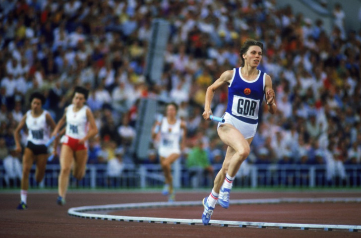 East Germany's Marita Koch, pictured at the 1980 Moscow Olympics, ran 47.60sec for 400m in 1985 which stands as a European and world record. The East German regime has since been shown to have involved state-run doping - but what should happen about such records now, if anything? ©Getty Images