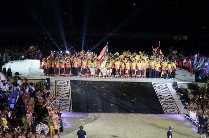 Papua New Guinea's delegation received a rapturous ovation as expected