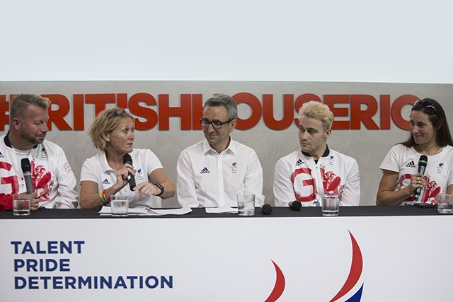 Penny Briscoe (second from left) described it as a huge honour to be appointed Chef de Mission for Pyeongchang 2018 ©ParalympicsGB