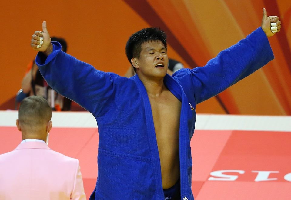 Guham Cho was one of two South Korean gold medallists on the opening day of Gwangju 2015 ©Gwangju 2015