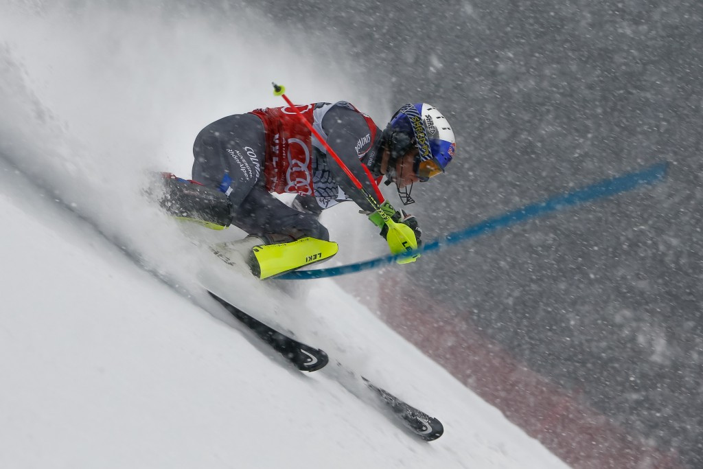Alexis Pinturault finished more than half a second in front of error-strewn Austrian Hirscher ©Getty Images