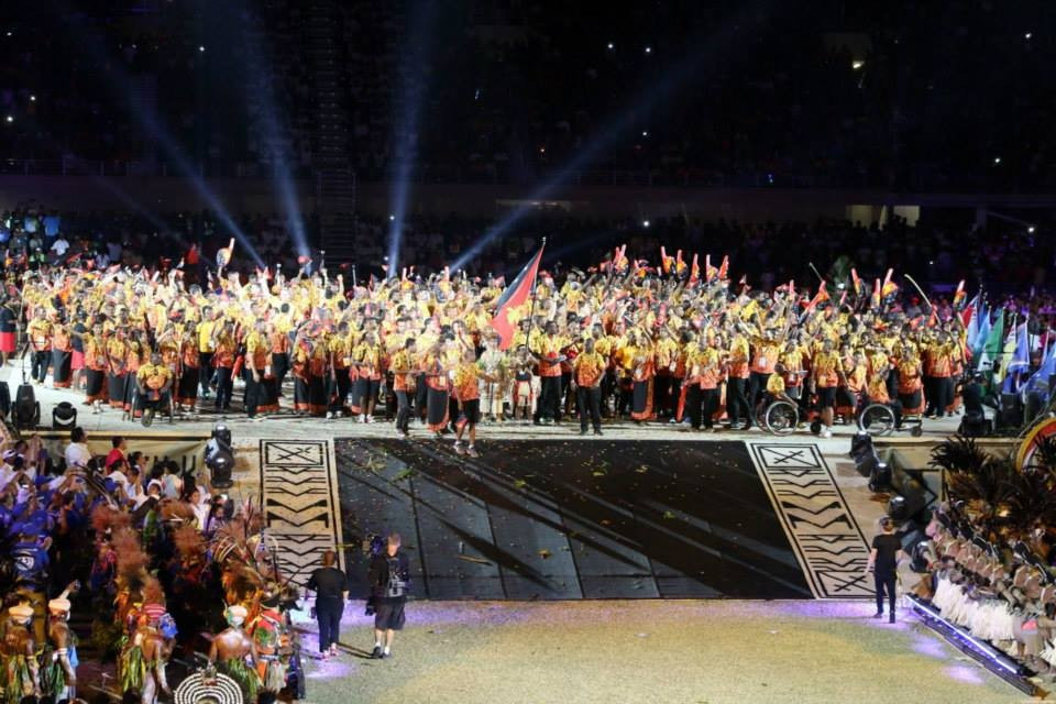 The stadium erupted as Team PNG made their long-awaited arrival at the Opening Ceremony