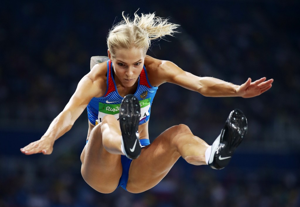 Long jumper Darya Klishina was the only Russian track and field athlete to compete at the Rio 2016 Olympic Games ©Getty Images