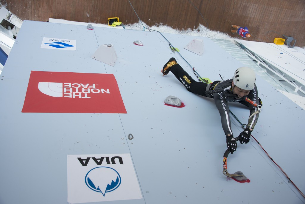 Song stars in early rounds at UIAA Ice Climbing World Cup event