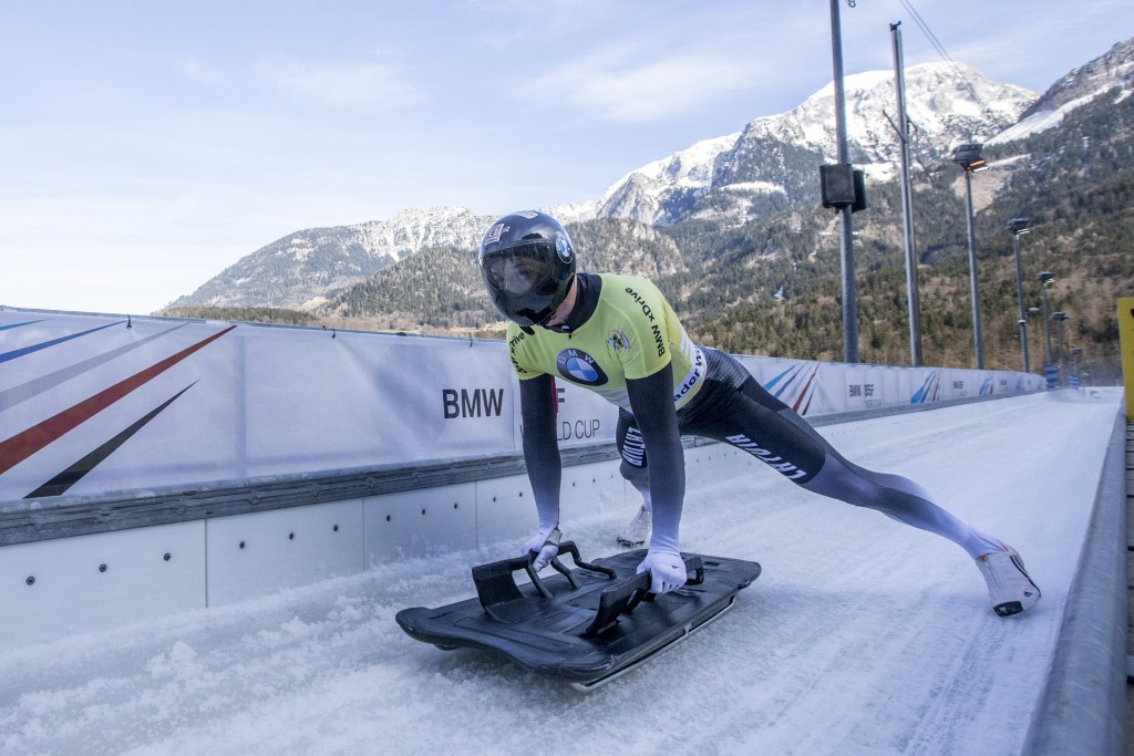 Martins Dukurs claimed the men's skeleton title on the second day of the IBSF European Championships ©Getty Images
