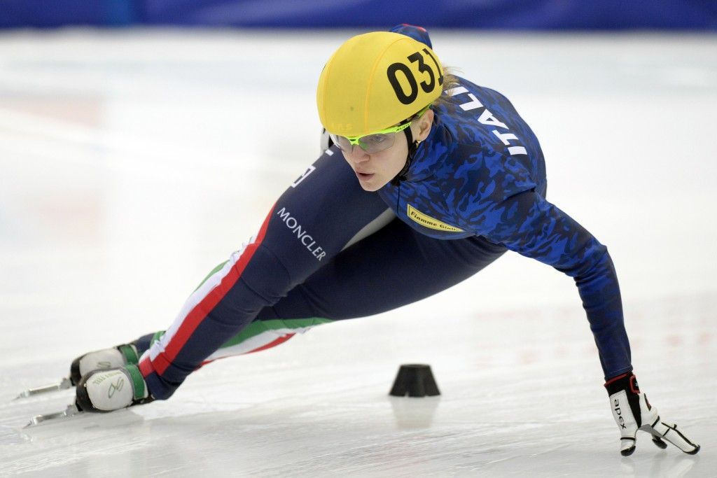 Fontana claims 1,500m gold in front of home crowd at ISU European Short Track Speed Skating Championships