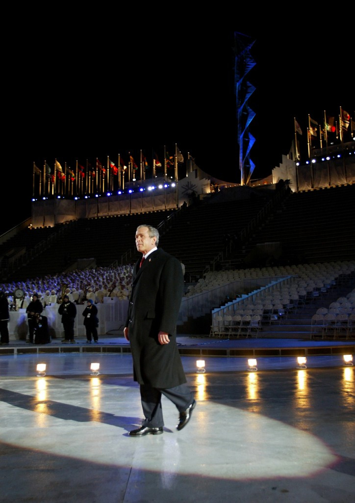 George W.Bush opened the 2002 Winter Olympic Games in Salt Lake City ©Getty Images