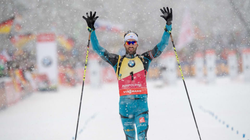 Fourcade battles through snow to claim 10th IBU World Cup win of season