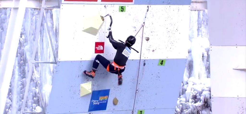 South Korea enjoy success at home UIAA Ice Climbing World Cup