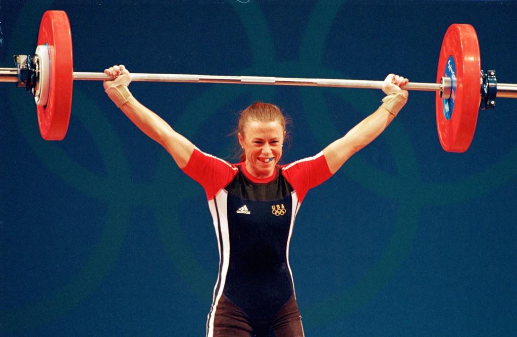 Tara Nott became the first female Olympic weightlifting champion ©Getty Images