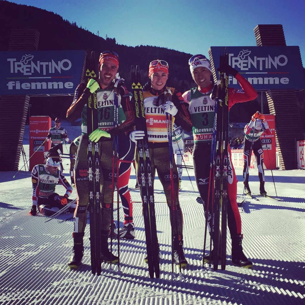 Eric Frenzel proved too strong for the rest of the field once again ©FIS Nordic Combined/Twitter
