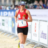 Germany's Lena Schoneborn won Modern Pentathlon World Championships - and a place at Rio 2016 - in her home city of Berlin ©UIPM