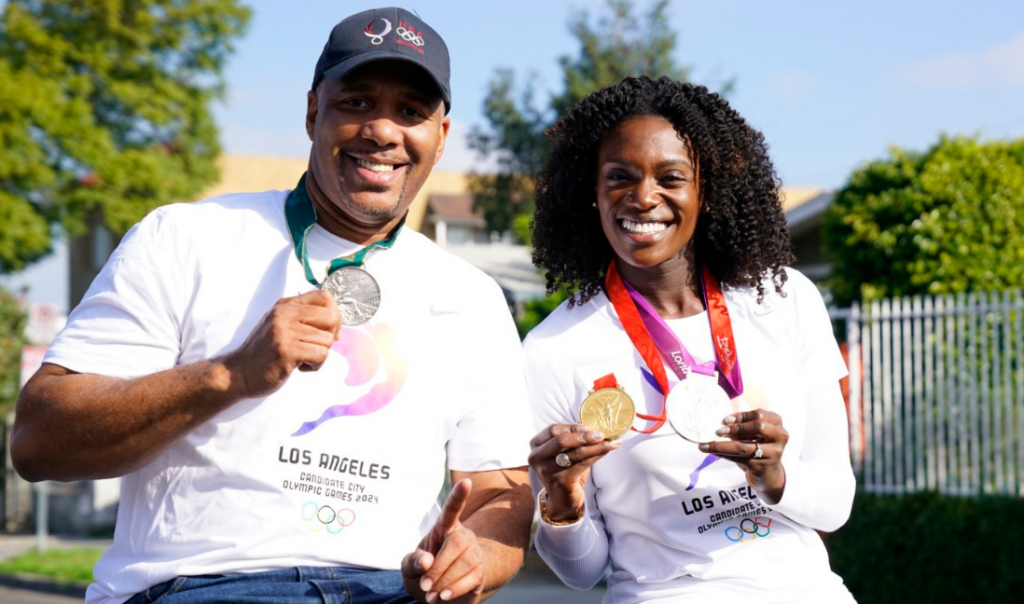 Olympic hurdles medallists represent Los Angeles 2024 in Martin Luther King Day parade