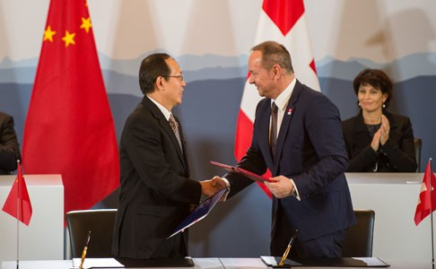 Swiss and Chinese Olympic Committees sign cooperation deal