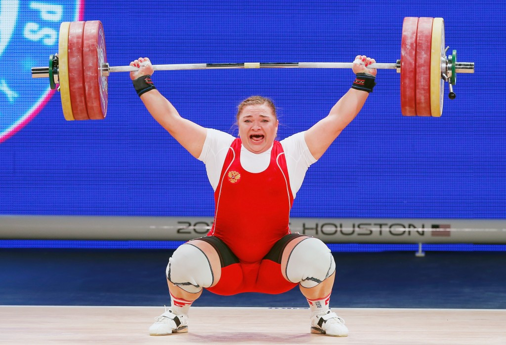 Tatiana Kashirina has received all the world records in the over 90kg division ©Getty Images