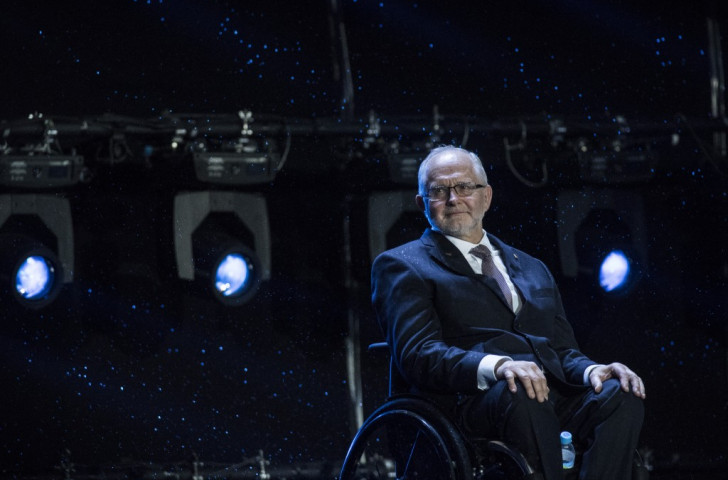 Sir Philip Craven, President of the IPC, pictured during the Closing Ceremony in Rio de Janeiro of the Paralympics, from which Russian athletes were banned because of doping abuses ©Getty Images