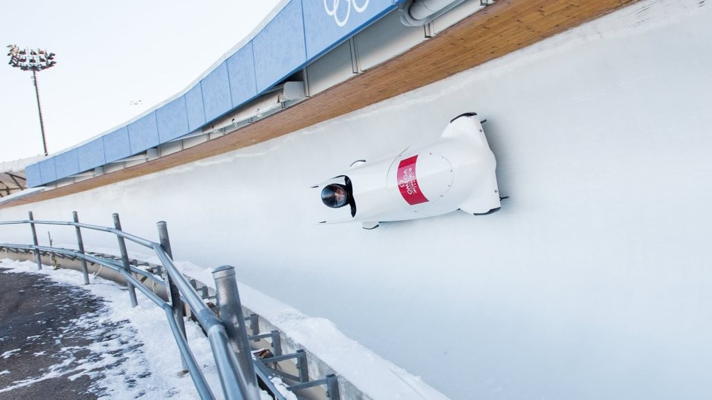 Latvia's Alvils Brants is the new overall bobsleigh leader ©LPC/Twitter