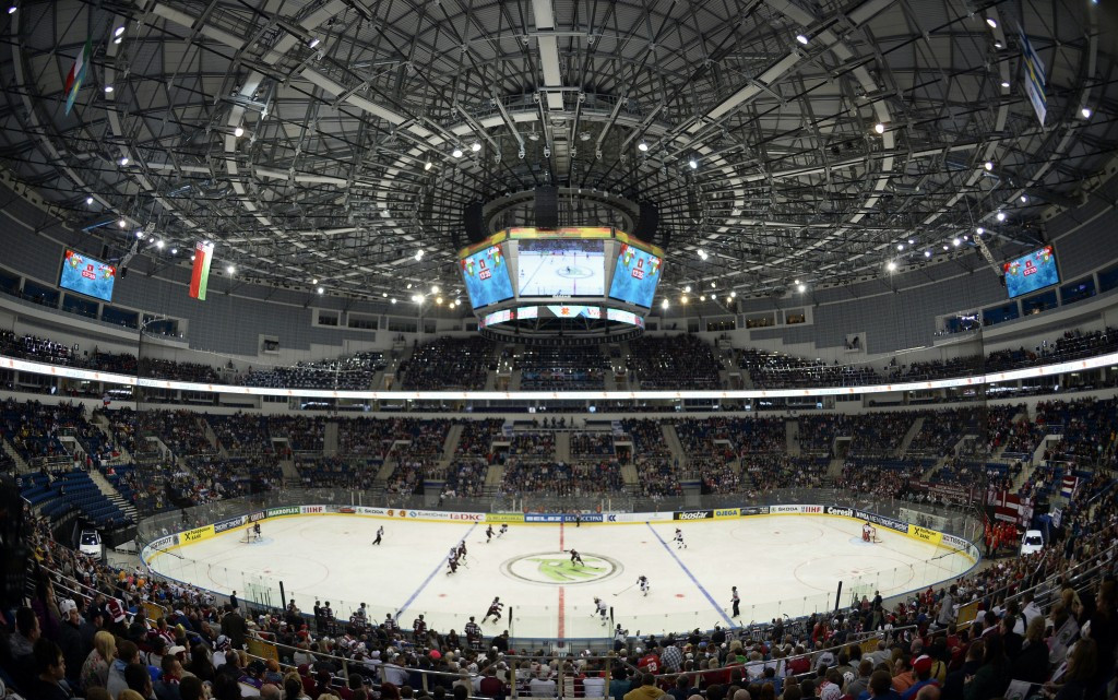 The Minsk Arena held the 2014 Championships and is the main venue for the joint Belarus and Latvia bid ©Getty Images