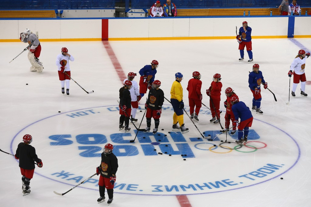 Two members of Russia's female women's ice hockey team are accused of having male DNA at Sochi 2014 ©Getty Images